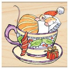 ADORABLE Christmas Mouse ~ penny black