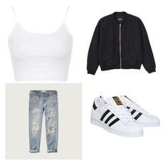 """""""Untitled #7"""" by victoriaperez901 on Polyvore featuring Topshop, Abercrombie & Fitch, Monki, adidas, women's clothing, women, female, woman, misses and juniors"""