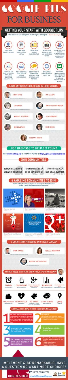 Google + for business #infographic #socialmedia