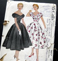 1950s Vintage Sewing Pattern  McCalls 9817 Special by SelvedgeShop, $34.00