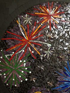 Fireworks detail by Rebecca Naylor