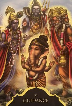 Guidance, from the Whispers Of Lord Ganesha, by Angela Heartfield, artwork by Ekaterina Golovanova