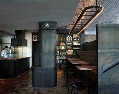 Необычный индустриальный интерьер ресторана Matto