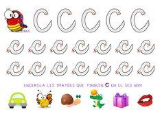 Traç de la lletra C + petita tasca consciencia fono fet per mi