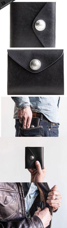 Genuine leather short wallet leather men short vintage wallet for men