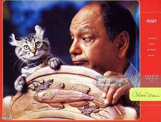 Cheech Marin and cat