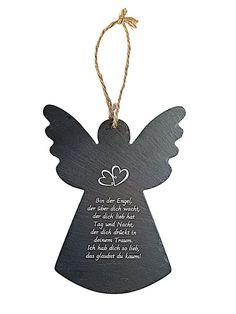 Wanddeko Engel mit Spruch Mehr