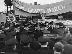 Civil rights campaigners in Derry (or Londonderry) demanding equality in housing, employment and voting rights for Catholics in Northern Ireland, 10th January 1969.