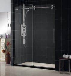 american style glass frameless sliding shower door hardwares sdmsr01a with 72inch widthfree - Delta Shower Doors