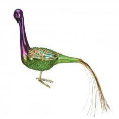 Mardi Gras Peacock Ornament