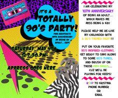 S Party Invite S Party Pinterest S Party - 90s birthday invitation templates