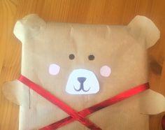 Teddy bear giftwrapping #diy#diygiftwrapping#soonchristmas