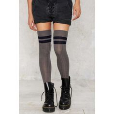 Legwear   Shop Thigh High Socks & Suspender Tights At Nasty Gal ❤ liked on Polyvore featuring intimates, hosiery, tights, thigh high stockings, thigh high hosiery, thigh high pantyhose, thigh high tights and nasty gal