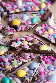 Easter candy bark easter ideas easter recipes easter brunch ideas easter crafts and more from cydconverse rice krispie easter egg treat pops! perfect for easter snacks and desserts! Easter Snacks, Easter Candy, Hoppy Easter, Easter Treats, Easter Recipes, Easter Baking Ideas, Easter Meal Ideas, Easter Desserts, Easter Food