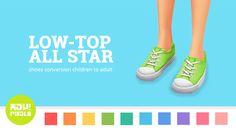 Low-top All Star I Shoes I All Ages I by heypixels via tumblr I Sims 4 I TS4 I Maxis Match I MM I CC I