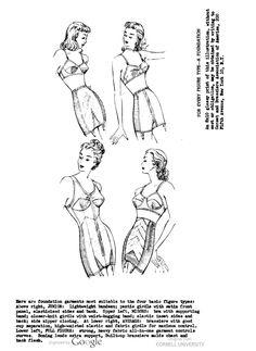 1940s Lingerie  Bra, Girdle, Slips, Underwear History. Four figure types: Junior, Misses, Average, and Full Figure lingerie suggestions.    #1940sfashion #lingerie #vintage