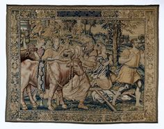 The sacrifice at Lystra, Southern Netherlands, c.1550-c.1600. Rijksmuseum, Public Domain Medieval Tapestry, Handicraft, Vintage World Maps, Old Things, Public Domain, Tapestries, Rugs, Netherlands, Southern