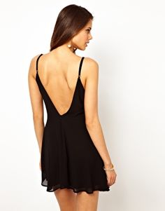 True Decadence Skater Dress with Low Back