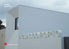 Veja como ficou! Águas do Porto  Letras em betão -- Take a look Águas do Porto  Concrete letters #acl #aclouro #acimenteiradolouro #betao #concrete #design #arquitetura #architecture #architektur