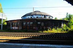 The Bahnbetriebswerk Pankow Heinersdorf seen from the S- Bahn platform Berlin Photos, S Bahn, Taj Mahal, Germany, Platform, Digital, Building, Places, Travel