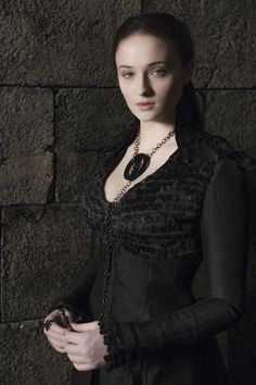 sansa stark black dress - game of thrones
