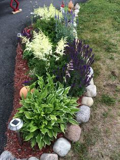 Front Garden Decor Ideas- Enhance Your Front Entrance With These ideas! – Page 2722967179 – Gardening Decor Home Landscaping, Landscaping With Rocks, Front Yard Landscaping, Trees For Front Yard, Front Yard Design, Garden Yard Ideas, Garden Path, Shade Plants, Plant Design