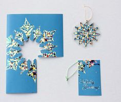 ~Ruffles And Stuff~: Recycling Christmas Cards Christmas Card Crafts, Old Christmas, Christmas Paper, Diy Christmas Ornaments, Holiday Crafts, Christmas Holidays, Christmas Stuff, Christmas Ideas, Christmas Decorations