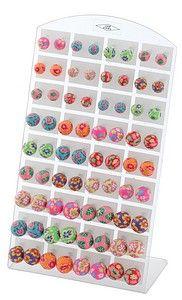 Colourful fimo earrings