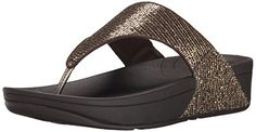 Fitflop Womens Lulu Superglitz Textile Sandal Copper 8 M US *** Details can be found by clicking on the image.