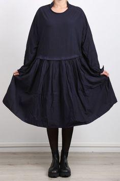 rundholz black label - Kleid in Blusenform Cotton Jersey vulcano - Winter 2017…
