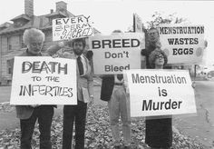 MENSTRUATION IS MURDER.... You're tellin' me! : Don't get this at all!