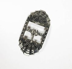 """See new listings daily - follow us for updates.  Small Art Deco #Style #Black and Silver Tone Belt Buckle Fashion Accessory, Offered by MimisJewelryBoutique  Color: Silver Black Approximate Measurements: 7/8"""" x 1 3/4"""" Condi... #vintage #jewelry #teamlove #etsyretwt #bestofetsy #small #mimisjewelryboutique"""