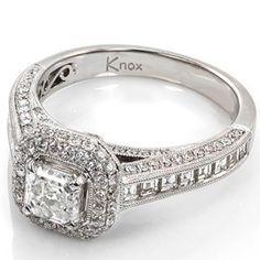antique princess cut ring