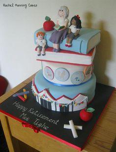 Teacher retirement cake - Cake by Rachel Manning Cakes