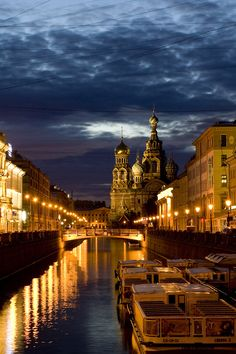 "St Petersburg, Russia.  Often referred to as the ""Venice"" of eastern Europe."