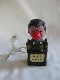 Vintage Nanco Bar is Open Drunk Man Lamp by VintageByThePound, $18.00