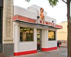 Kewpee's became Halo Burger after a name infringement lawsuit. Flint Michigan