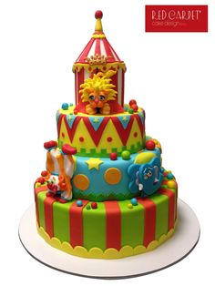 CIRCUS CAKE-by #RedCarpetCakeDesign®
