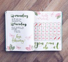 """1,353 Likes, 11 Comments - Bullet Journal & Studygram (@mylittlejournalblog) on Instagram: """"Bye February, hello March! ✍️"""""""