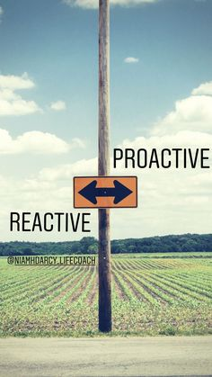 Proactive by nature, Reactive by choice