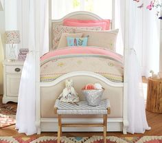 Styled after heirloom embroidery in contemporary hues, this chic bedding brightens their bedroom. Exclusively imagined for Pottery Barn Kids with fashion designer Jenni Kayne, it captures her fun and uncomplicated aesthetic.