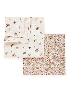 4 Pack Pure Cotton 58x58cm Muslin Squares | M&S