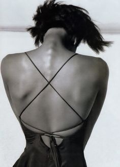 """""""Close Fit"""" Vogue US April 1989 Photographer: Herb Ritts Model: Naomi Campbell"""