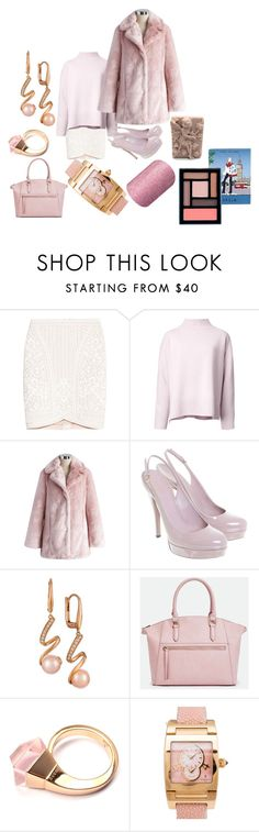 """""""Pinky 2017"""" by michelle858 ❤ liked on Polyvore featuring Hervé Léger, Le Ciel Bleu, Chicwish, Gucci, LE VIAN, JustFab, de Grisogono and Stila"""