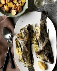 Whole Fish Roasted with Potatoes and Thyme Recipe on Food & Wine