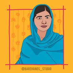 MALALA YOUSAFZAI Powerful Women Series No.2  On the morning of October 9, 2012, 15-year-old Malala Yousafzai was shot by the Taliban. Seated on a bus heading home from school, Malala was talking with her friends about schoolwork. Two members of the Taliban stopped the bus. A young bearded Talib asked for Malala by name, and fired three shots at her. One of the bullets entered and exited her head and lodged in her shoulder. Malala was seriously injured, but she survived. Why did she get shot… Malala Yousafzai, Get Shot, Bullets, 15 Years, Powerful Women, Girl Power, Disney Characters, Fictional Characters, Shots