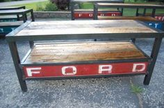 Red Ford Tailgate Table