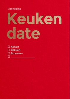 Keuken date 1 | HAPPY INVITES | Happy Whatever