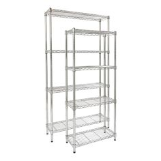 Chrome Wire 72 Inch Deep 4 Shelf Units Shelf Unit Shelves Wire Shelving