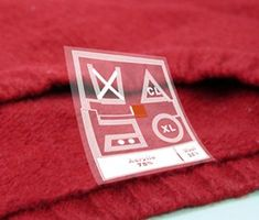Clothing Care Labels: RFID tags communicate with washing machine and dryer to set the right settings